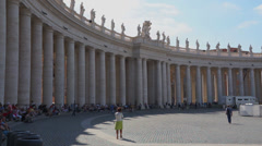 Scene of Vatican City in Rome Stock Footage
