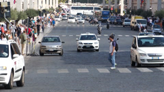 Scenes of Traffic in Rome (1 of 12) Stock Footage