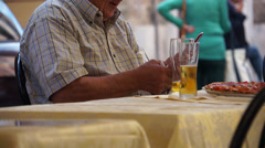Scenes of People Eating in Rome (3 of 5) Stock Footage