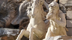 Scenes of the Trevi Fountain in Rome (2 of 9) Stock Footage