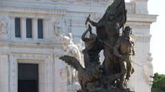 Scenes of the Victor Emmanuel Monument in Rome (8 of 9) Stock Footage