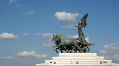 Scenes of the Victor Emmanuel Monument in Rome (3 of 9) Stock Footage