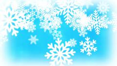 Christmas Snow Animation Stock Footage