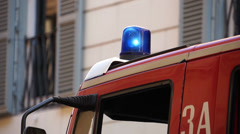 Scenes of an Italian Firetruck (7 of 7) Stock Footage