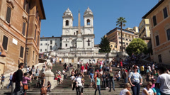 The Spanish Steps in Rome (2 of 2) Stock Footage