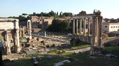 Ruins of the Roman Forum - stock footage