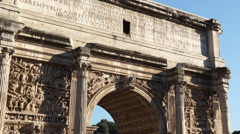 Scenes of the Arch of Titus in Rome (6 of 7) Stock Footage