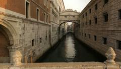 Ponte dei Sospiri in Venice Stock Footage
