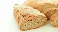 Fresh dark bread Stock Footage