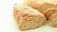 Stock Video Footage of Bakery bread on white background