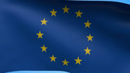 Stock Video Footage of EU Flag