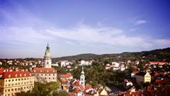 Cesky Krumlov, Czech Republic. Time Lapse. Stock Footage
