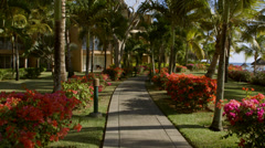 Walkway in Hotel Stock Footage