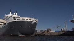 Hamburg cruise center Stock Footage