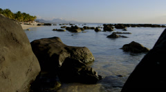 Rocky Beach at Sunset Stock Footage