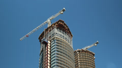 Condo construction in Toronto. Timelapse. Stock Footage