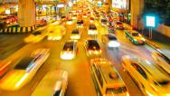 Stock Video Footage of Traffic downtown Bangkok.
