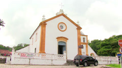 Igreja Nossa Senhora das Necessidades Church in Santo Antonio de Lisboa Stock Footage