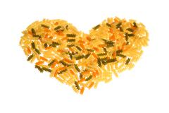 a heart of pasta - stock photo