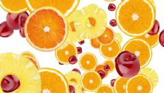 Fruits animation Stock Footage