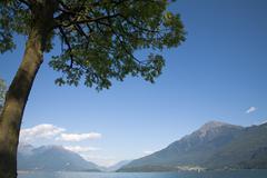 Lake como's landscape Stock Photos