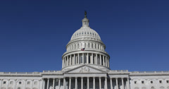 Ultra HD 4K US Congress, Federal United States Capitol Building, Washington DC Stock Footage
