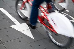 cycle lane - stock photo