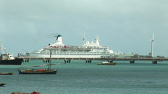 Boats and ships on November, 2007 in Fortaleza, Ceara, Brazil Stock Footage