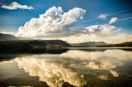 Stock Photo of yukon territory cloud reflections