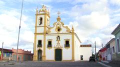 Igreja Matrizde Nossa Senhora da Conceicao Church in Maceio, Alagoas, Brazil Stock Footage