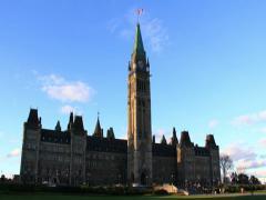 Parliament Hill Ottawa Time Lapse 1 (2K) Stock Footage