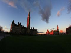 Parliament Hill Ottawa Time Lapse 4 (2K) Stock Footage