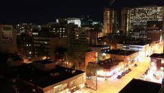 Ottawa Downtown Night Time Lapse Stock Footage