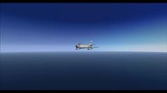 F 86 Fighter Jet in Flight Stock Footage