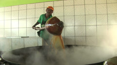 Sugar cane being prepared on November, 2007 in Fortaleza, Ceara, Brazil Stock Footage