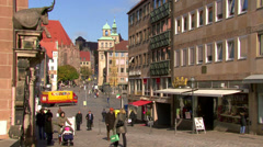 Everyday life in Nuremberg Stock Footage