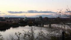 Ottawa River and Gatineau Panning Stock Footage
