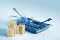 profit calculation - stock photo
