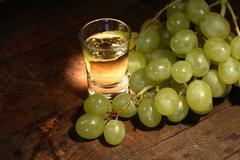 Grappa and grape Stock Photos