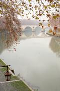 tiber river in rome,italy - stock photo
