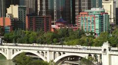 Centre Street Bridge - stock footage