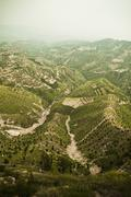 Reforested areas in the mountains, Shanxi Province, China Stock Photos