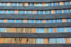 Black and orange facade - stock photo