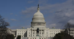 Ultra HD 4K Facade United States Capitol Building, Washington DC, US Congress Stock Footage