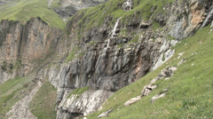 Swiss Alps - mountain stream Stock Footage