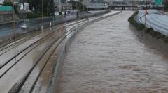 Tel Aviv Stormy Weather Stock Footage