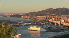 Stock Video Footage of Malaga Coast in the Morning