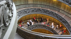 The famous Vatican staircase 7 Stock Footage
