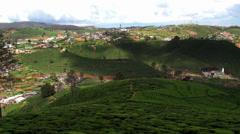Bird's-eye view of Nuwara Eliya city at Sri Lanka Central Highlands. Stock Footage
