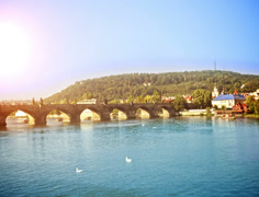 Charles Bridge. Czech Republic. Time Lapse. Stock Footage